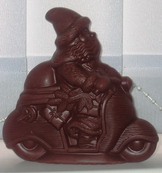 Figures from chocolate